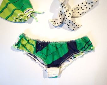 """Ruched knickers, """" MELEZE """" / Frilly panties / Women's underwear / Gift for her"""