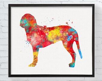 Dunker Dog Watercolor Print - Dunker Dog Breed - Dunker Art - Dog Painting - Dog Decor - Custom Dog Art, Dog Gifts, Pet Prints, Gift Idea,