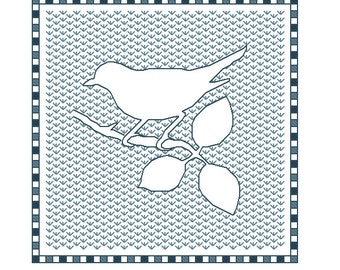 Blackwork Bird pattern, blackwork animals, PDF, Birds
