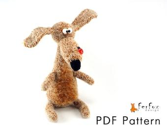 Crochet dog pattern Amigurumi DIY tutorial Dog PDF pattern DIY handmade toy Crochet amimal pattern Amigurumi dog pattern Crochet toy pattern
