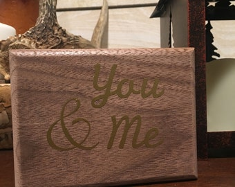 You & Me Wood Box
