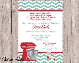 stock the kitchen themed bridal shower retro kitchen wedding shower invite kitchen shower invitation