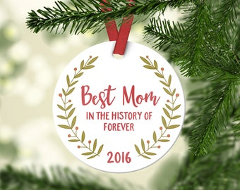 Mom Birthday Gift for Mom Christmas Ornaments Baby Shower Gift for Mom New Mom Gift Christmas Tree Decorations Christmas Gifts for Mom