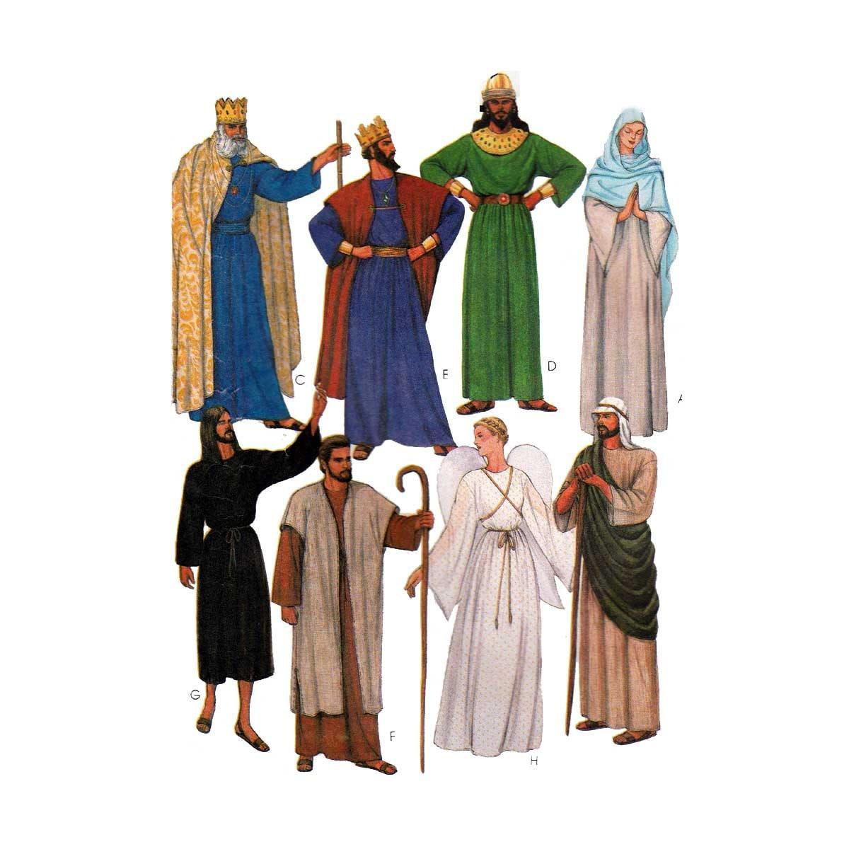Erwachsenen biblische Kostüme Schnittmuster Misses / Herren