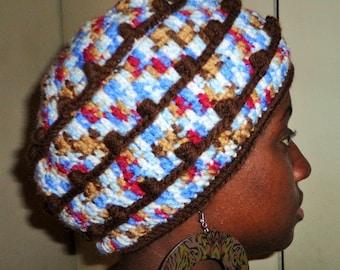 Tumble Brownies, Crochet Cap