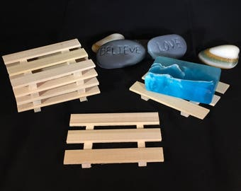 28 thin poplar wood soap dishes - .75 cents each - or 20 slim style - your choice