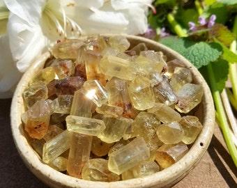 Sunny Golden Apatite Jewelry Sized Crystals - 1 set - Radiant Life Force, Prosperity, Manifestation, Fruition, Stimulant.