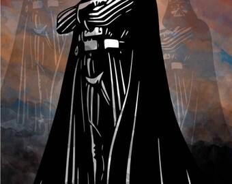 Darth Vader Wall Art Poster Print,Darth Vader Wall Decal,Star Wars Darth Vader Poster,Star Wars Wall Art,Darth Vader Watercolor Art,Star War