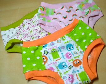 Girls Unders 3 Pack - Size 4