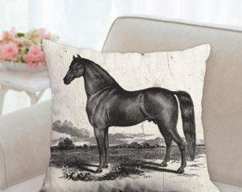 Beautiful Black Horse Designer Pillow (Three styles to choose from)