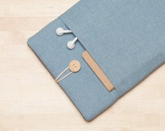 "Macbook 15 case, 15 inch Macbook case, 15"" macbook pro retina cover, macbook 15 sleeve - Indigo"