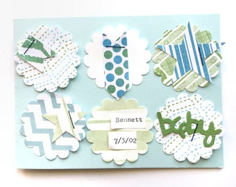 Baby Card - New Baby Card - Baby Shower Card -  Baby Boy - Baby Announcement - Expecting Card -  Congratulations Baby - Baby Shower Wishes