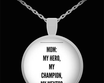 TO MY MOM!  Premium Silver Necklace! The perfect Mum's Gift!