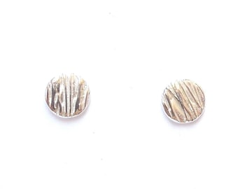 Sterling pine needle post earrings, mini studs, forest jewelry, botanical replica, under 20 USD, landscape architecture, elfen jewelry