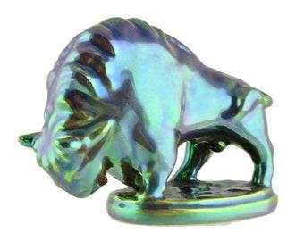 Zsolnay Bull Figurine Hungarian Pottery April/ May Birthday Gift Taurus Zodiac