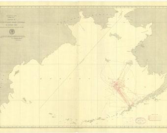 Bering Sea Map - US Naval Vessels - 1891