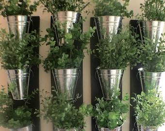 Indoor Wall Planter (one row of 3 pots)