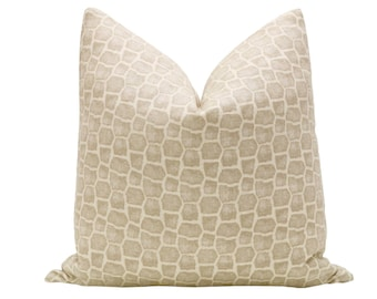 Safari Print // Sand Pillow COVER ONLY
