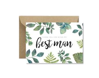 Foliage Best Man Thank You
