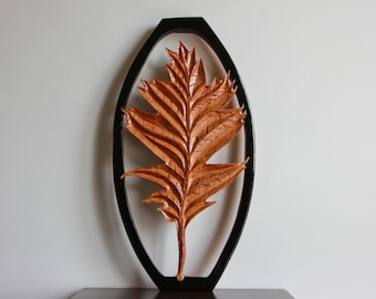 Wooden Leaf - Handmade Carving
