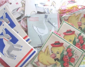 Vintage Tally Cards NOS ONE Package 4 Cards Paper Ephemera Scrapbook Supply