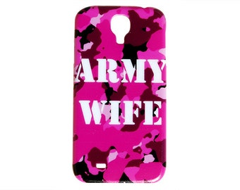 Traditional Hot Pink Camo Army Wife Troops Camouflage Design Case for Samsung S4 Galaxy Case S5 Colorful Cover Plastic Support Military c94