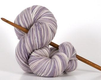 Naturally dyed, Hand dyed yarn, 100% Super Wash Merino, sock weight, Logwood