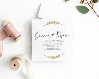 Wedding invitation, wedding invitations, printable invitation, wedding invite, invitation template, wedding invites EDEN