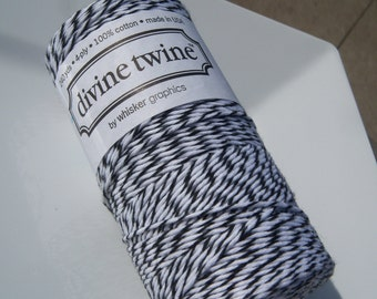 FULL SPOOL - Bakers Twine - Divine Twine - 100% Cotton - One Color - 240 Yards - Black Licorice Shown