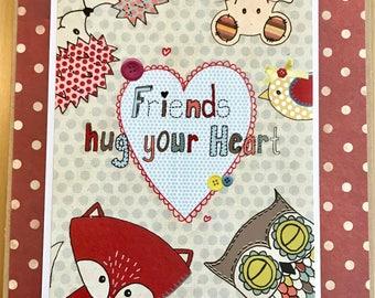 Friends Hug Your Heart Card