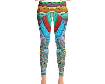 San Francisco Color Burst Premium Yoga Leggings