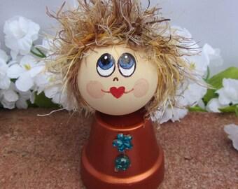 Pot Lady, pot people, whimsical,