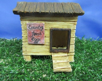 Miniature Garden Chicken Coop - Fairy Garden - Fairy Garden Hen House - Highly Detailed