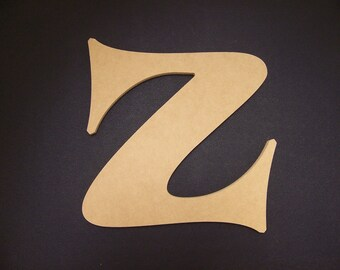 """30"""" Unfinished Wooden Letter, Crazy Harold font, 1/2"""" thick w/Key Hole, Ready to Paint, Made in USA 30CH50"""