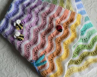 RAINBOW RIPPLES Buggy Blanket