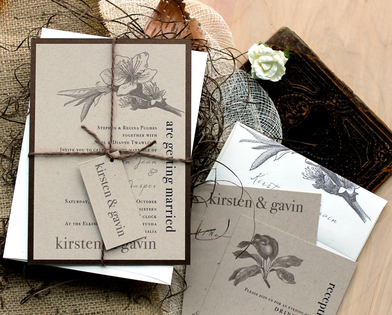 Country Wedding Invitations: Rustic & Chic Wedding Invitations Farm Wedding Country