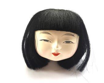 Kawaii Japanese Doll Head - Doll Body Part - D18-5 Girl Head
