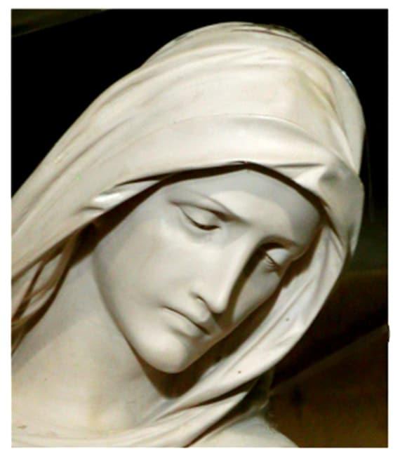 "Mother of Sorrows 72"" Fiberglass Statue"