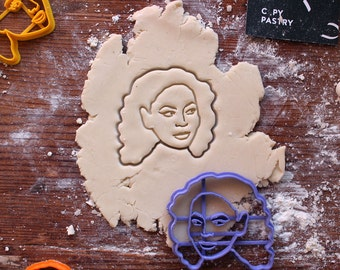 Beyonce Cookie Cutter // fondant cutter // cookie stamp // for custom cookies // personalized cookie cutter