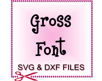 Monogram Cut Files - Font Design Files For Use With Your Silhouette