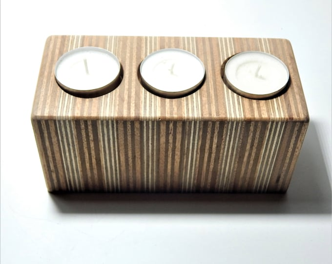 Wooden tealight candle holder,ply wood tealight candle holder.