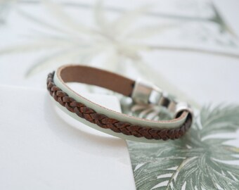 Leather bracelet, leather bangle, leather cuff bracelet