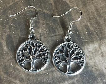 Tree of Life Earrings - Tibetan Silver - Makes a Beautiful Gift!