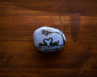 Painted pebble fridge magnets