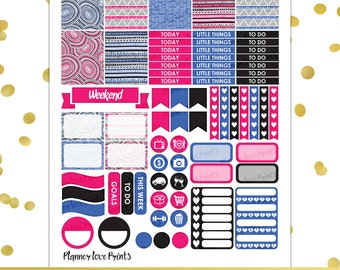 pink trival  PRINTABLE Planner Stickers | Instant Download | Pdf and Jpg Format