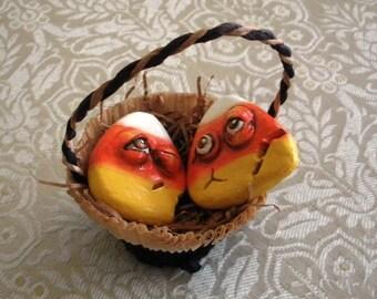 Halloween Süßigkeiten wird lebendig!  Charmante OOAK Ornamente von Lori Gutierrez!