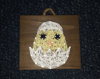 MADE TO ORDER Easter Hatching Chick String Art