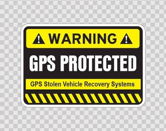 Decal Stickers Gps Protected Prevention Sign Vinyl 14055