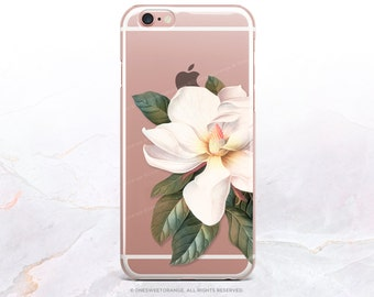 iPhone 8 Case iPhone X Case iPhone 7 Case Magnolia Clear GRIP Rubber Case iPhone 7 Plus Clear Case iPhone SE Case Samsung S8 Plus Case U59