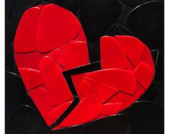 Broken Heart Guitar Picks on Canvas